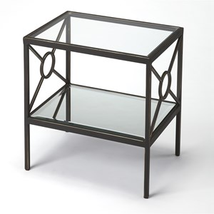 Metropolis Metal & Mirror Side Table