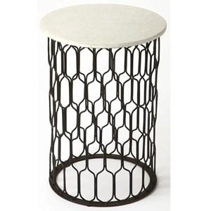 Sela Marble & Metal End Table
