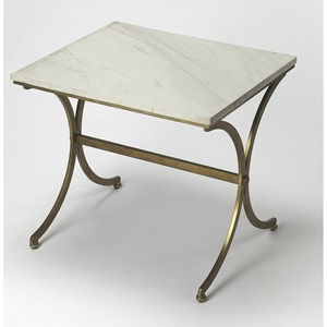 Pamina Travertine Accent Table