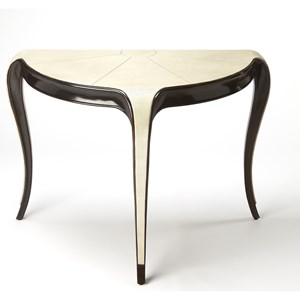 Alexis Leather Demilune Console Table