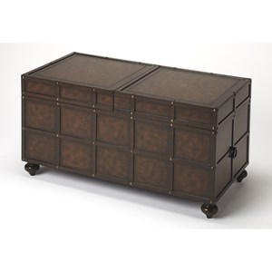 Dennard Faux Leather Storage Coffee Table