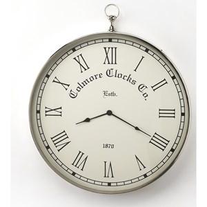 Grafton Nickel Finish Wall Clock