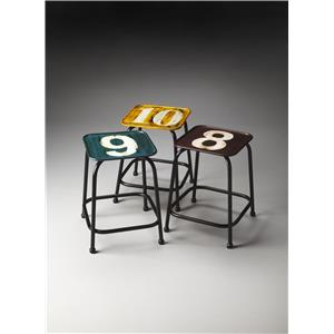 Butler Specialty Company Industrial Chic Stool Set