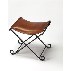 Melton Brown Leather Stool