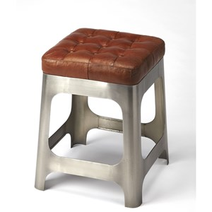 Gerald Iron & Leather Counter Stool