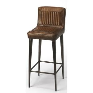 Maxwell Leather Bar Stool