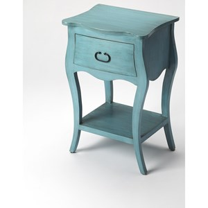 Rochelle Distressed Blue Nightstand