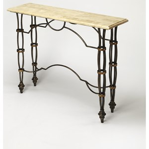 Girona Fossil Stone Console Table