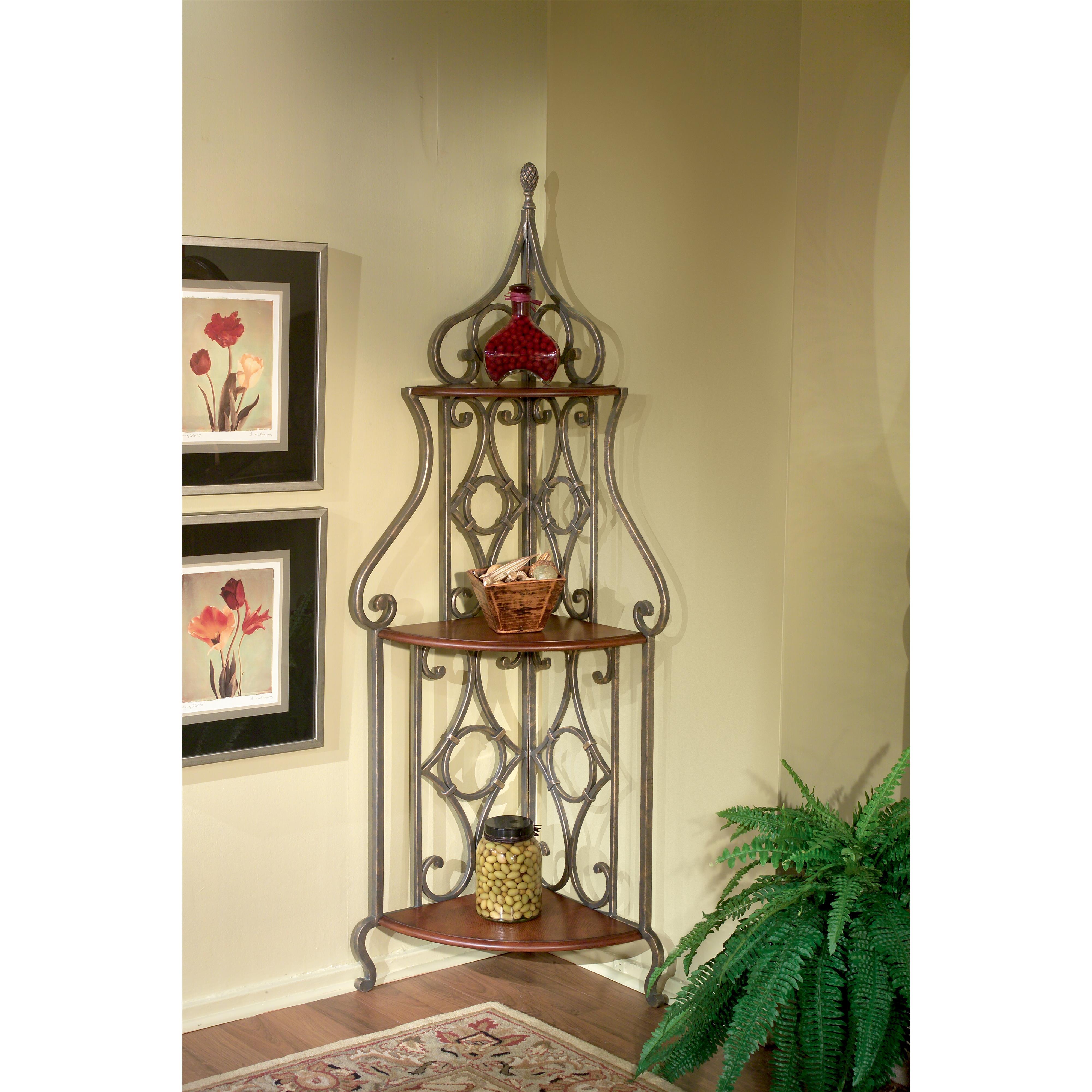 Metalworks Corner Baker's Rack by Butler Specialty Company at Jacksonville Furniture Mart