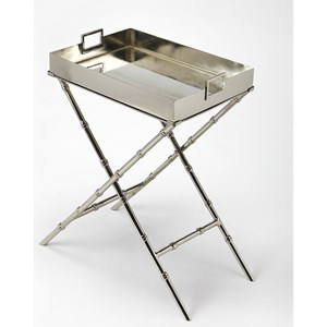 Muriel Metal & Mirror Tray Table