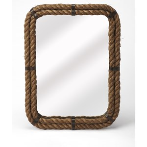 Darby Rectangular Rope Wall Mirror
