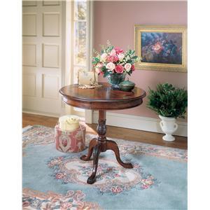 Carissa Plantation Cherry Round Pedestal Table