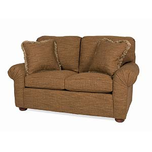 C.R. Laine CD CD Pleated Arm Loveseat