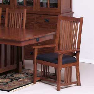 Cal Oak Fremont Hills Arm Chair w/Leather Seat