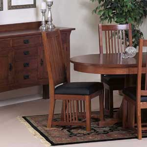 Cal Oak Fremont Hills Side Chair w/Leather Seat