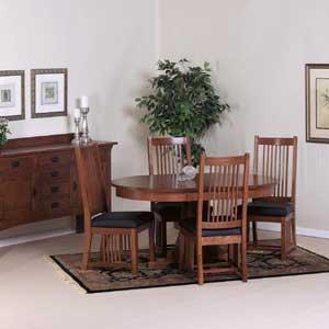 Cal Oak Fremont Hills Oval Table Set