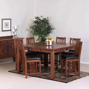 Cal Oak Fremont Hills Counter Height Gathering Table Set