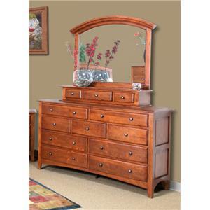 Cal Oak Chapel Hill Mirror and Dresser