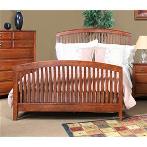 Cal Oak Chapel Hill Queen Size Bed