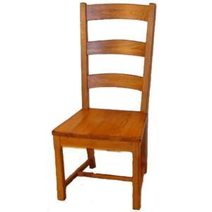 Cal Oak Homespun Woodseat Ladder Back Side Chair