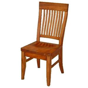 Cal Oak Homespun Bent Spindle Side Chair