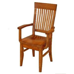 Cal Oak Homespun Bent Spindle Arm Chair