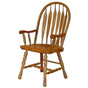 Cal Oak Hudson Valley Dining Arm Chair