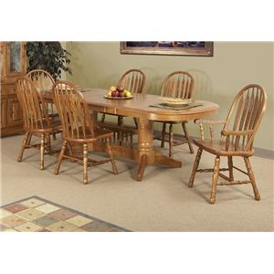 Cal Oak Hudson Valley Table and Chair Set