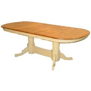 Cal Oak Jamestown Self-Storing Leaf w/Solid Oak Table
