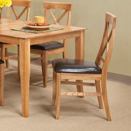 Cal Oak Matrix  X-Back Side Chair