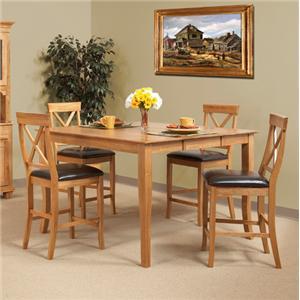 Cal Oak Matrix  (5) Piece Gathering Table & Barstool Set