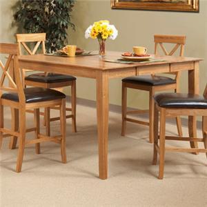"""Cal Oak Matrix  36"""" Gathering Table w/ Butterfly Leaf"""