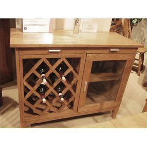 Cal Oak Matrix  Wine Cabinet
