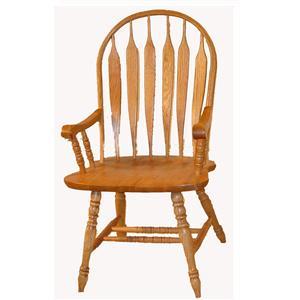 Cal Oak Oakridge Premier Arrow Back Arm Chair