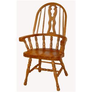 Cal Oak Oakridge Keyhole Arm Chair