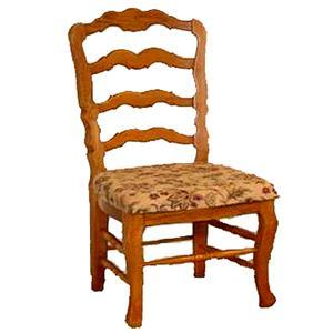 Cal Oak Oakridge French Ladderback Side Chair