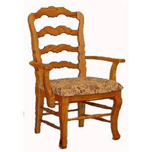Cal Oak Oakridge French Ladderback Arm Chair