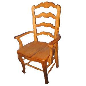 Cal Oak Oakridge French Ladderback Wood Seat Chair