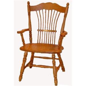 Cal Oak Oakridge Sheafback Arm Chair