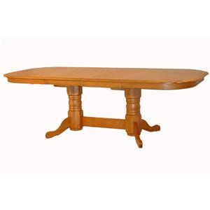 Cal Oak Oakridge Rectangular Serpentine Edge Dining Table
