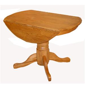 Cal Oak Oakridge Round Drop Leaf Table