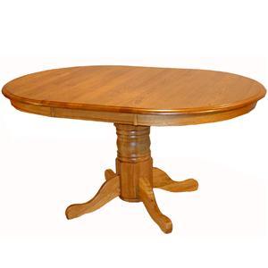 Cal Oak Oakridge Oval Plain Edge Dining Table