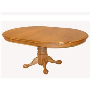 Cal Oak Oakridge Oval Serpentine Dining Table