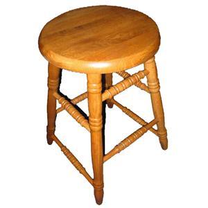 Cal Oak Oakridge Round Seat Bar Stool