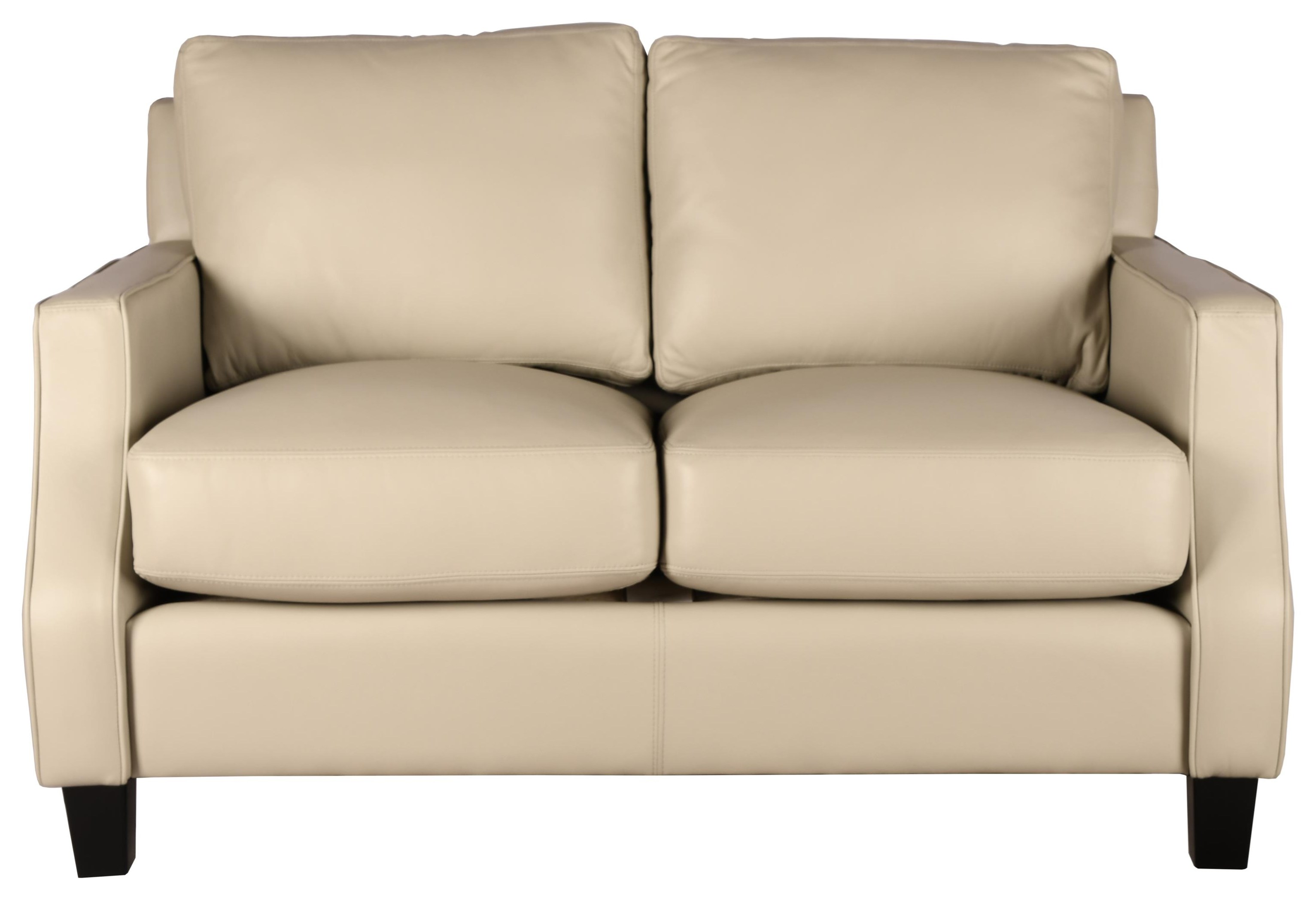 Divani Leather Loveseat by Castleridge Leather at Bennett's Furniture and Mattresses
