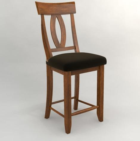 Custom Dining - Customized Classic Counter Stool by Canadel at Belfort Furniture