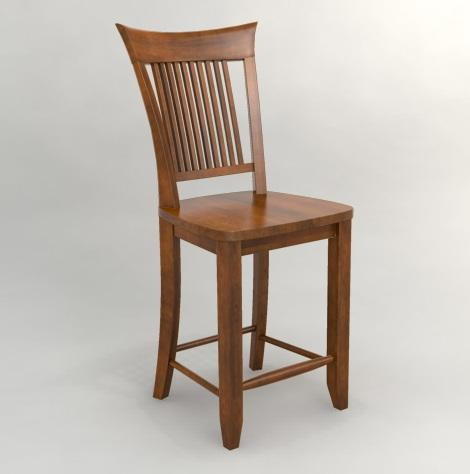 Custom Dining - Customized Slat Back Counter Stool by Canadel at Belfort Furniture