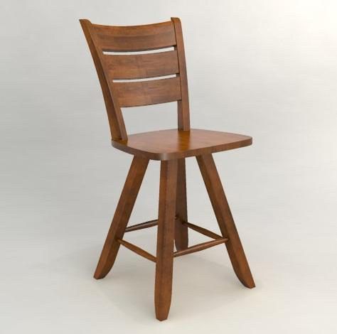 Custom Dining - Customized Swivel Counter Stool by Canadel at Belfort Furniture