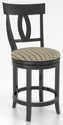 "Bar Stools 26"" Upholstered Swivel Stool by Canadel at Johnny Janosik"