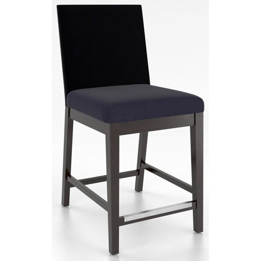 """Bar Stools Customizable 24"""" Upholstered Fixed Stool by Canadel at Williams & Kay"""